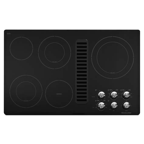 Kitchenaid Downdraft Electric Cooktop kitchenaid kecd867xbl kecd867xbl 36 electric downdraft cooktop sears outlet