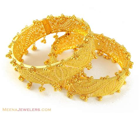 pattern for gold bangles patterns on it googir gold balls are attached to bangle