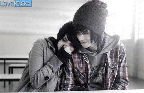 wallpaper of cute emo couple emo couple love fun happy romantic wallpapers