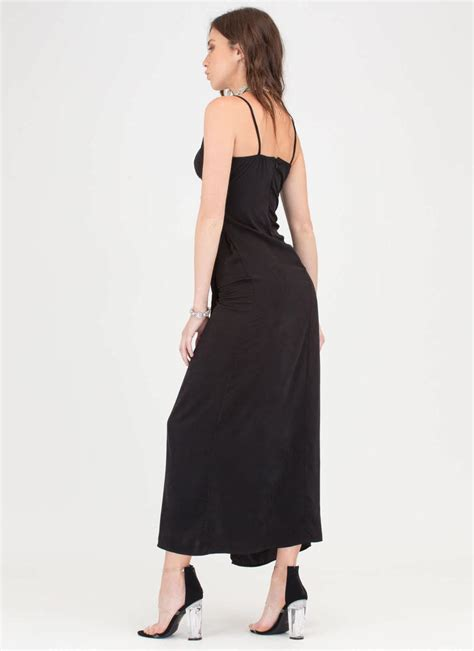 Sale Maxi Gamis wrap strong flowy maxi dress black gojane
