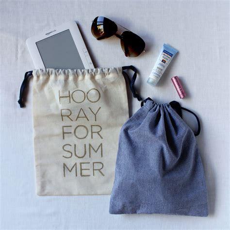 diy tutorial drawstring travel bag with free design