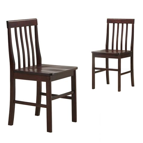 Solid Wood Dining Chairs Walker Edison Solid Wood Dining Chairs 2 By Oj Commerce 139 00 149 00