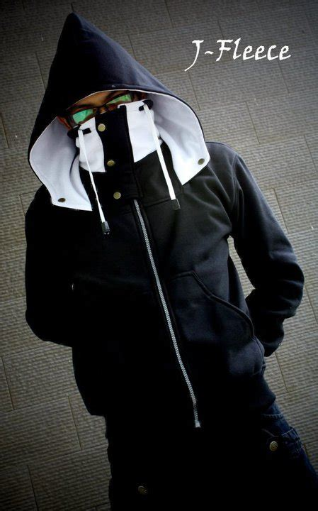 Jaket Fleece Hitam Putih jaket