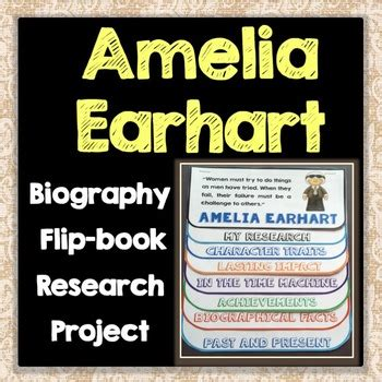 amelia earhart biography for students amelia earhart biography research project flip book