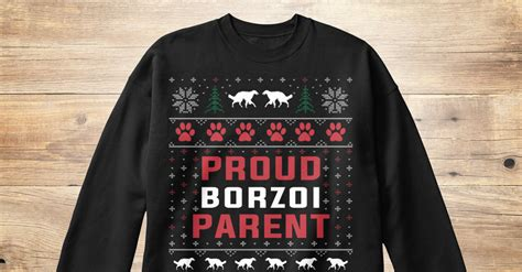 borzoi ugly christmas sweaters products teespring
