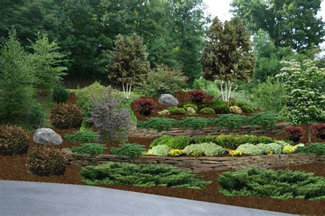 Design For Hillside Landscaping Ideas Terraced Backyards Designs Studio Design Gallery