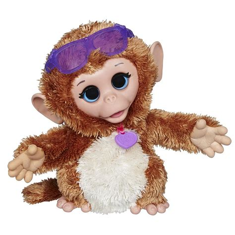furreal friends furreal friends baby cuddles my giggly monkey pet plush toys