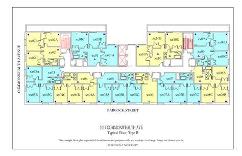 myles standish hall floor plan 1019 commonwealth ave floor plan 187 housing boston university