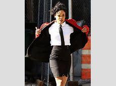Tessa Thompson reveals trademark black tie on the set of ... International Trademark Suit
