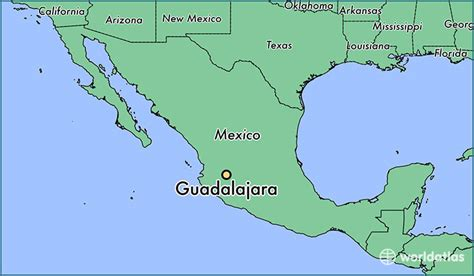 guadalajara map where is guadalajara mexico guadalajara jalisco map