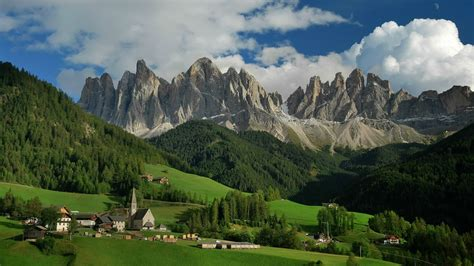 dolomite mountains dolomites italy wallpaper
