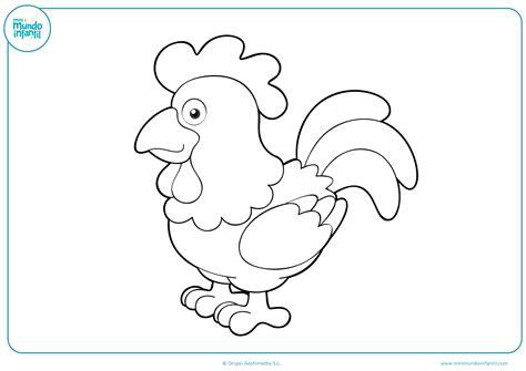 imagenes de gallinas faciles para dibujar dibujo de una gallina en blanco coloreable para ni 241 os