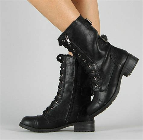 cheap womens combat boots black boot yc
