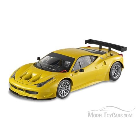 toy ferrari model cars ferrari 458 gt yellow mattel wheels bcj78 1 18