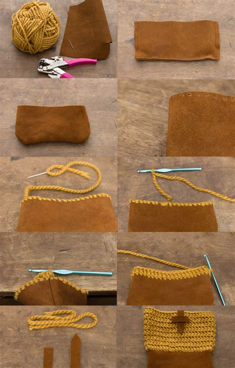 pattern making leather always rooney learn to crochet yarn and leather bag pattern