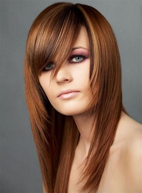 hairstyles for long straight hair with side bangs and layers trendy hairstyles for straight hair trendy long layered