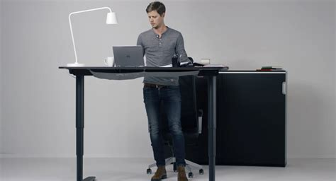 Adjustable Standing Desk Ikea Home Furniture Design Ikea Standing Desks