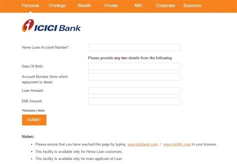 icici house loan icici home loan login check loan application status