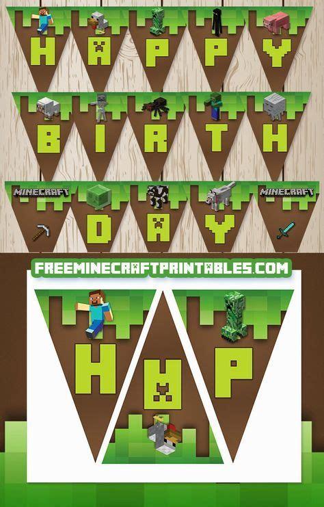 mickey banderines de happy birthday para imprimir gratis fiesta de minecraft banderines de happy birthday para