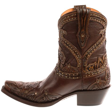 cowboy boots womans lucchese tooled petal cowboy boots for 9300y