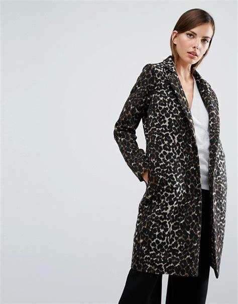 s leopard y a s y a s leopard print coat