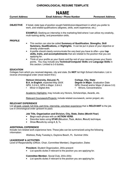 Best Resume Templates Top 10 Resumes Best Resume Exle
