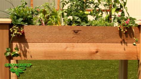 gronomics raised garden bed gronomics 174 rustic elevated garden bed youtube