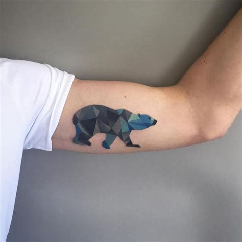 small bear tattoo 5 geometric polar tattoos