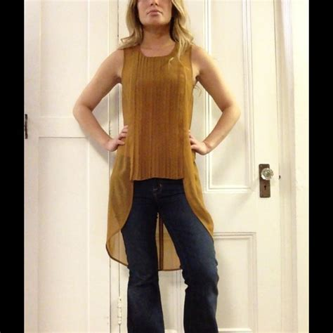 camel colored tops 60 h m tops camel colored high low tank from