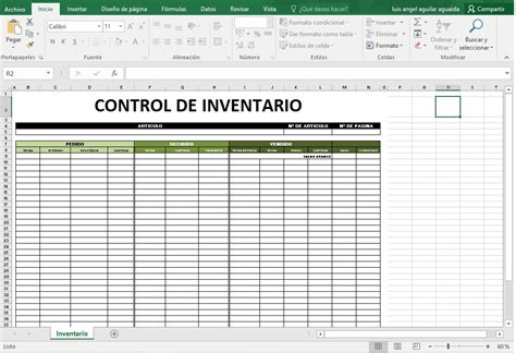 plantilla para inventarios personales plantillas excel control inventario para tu empresa hogar
