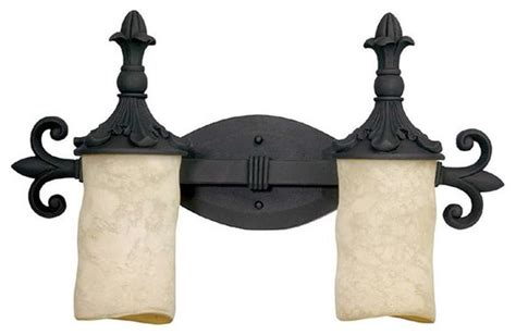 Capital Lighting Mediterranean 2 Light Vanity Fixture Wrought Iron Bathroom Lighting