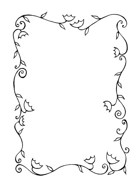 blossoming tree and tulips spring frame vector stock vector