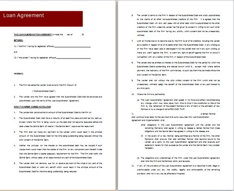 Loan Agreement Template Microsoft by Ms Word Loan Agreement Templates Free Agreement Templates