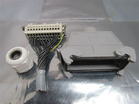 Harting Connector 24 Pin harting han e24f 24 pin connector housing