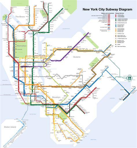 subway map new york new york subway map and travel guide with
