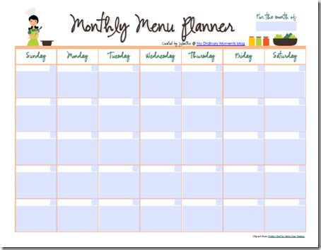 printable monthly meal planning calendar free editable monthly menu planner planners meals and pdf