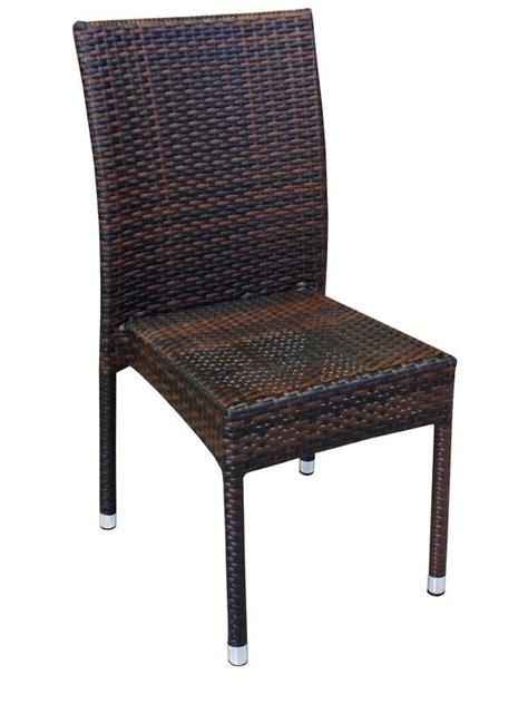sedie in rattan sintetico a80e per bar e ristoranti sedia impilabile per esterno