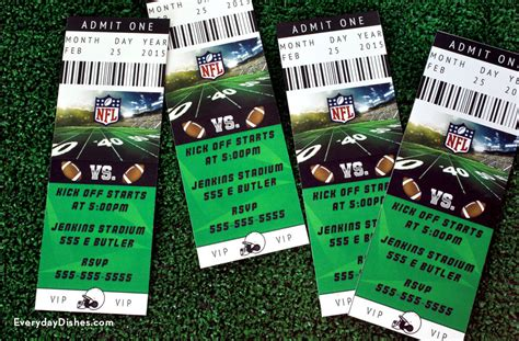 Football Ticket Invitations Printable Everyday Dishes Diy Soccer Ticket Invitation Template Free