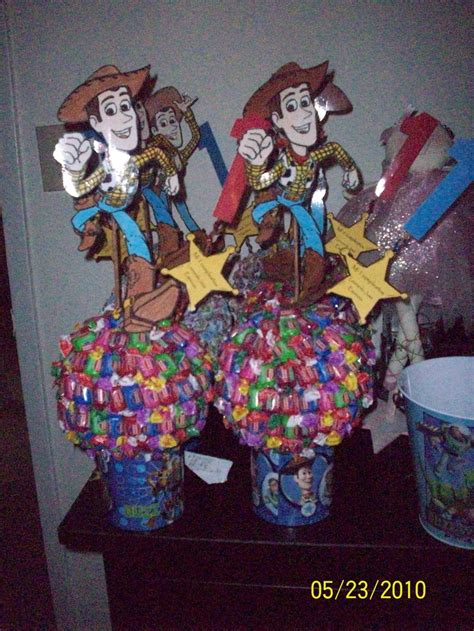 candy centerpieces toy story theme party ideas