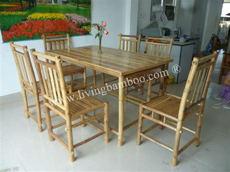 bamboo dining table and chairs best bamboo dining room set images rugoingmyway us