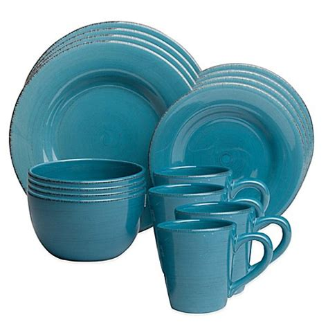 bed bath and beyond dinnerware sonoma dinnerware in turquoise bed bath beyond