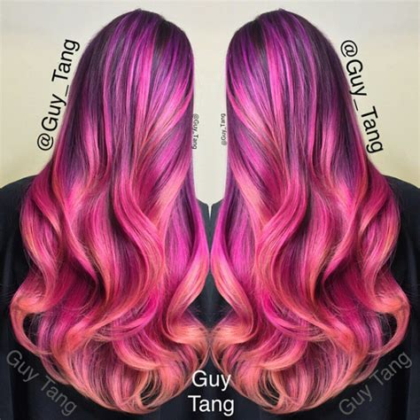 Cultusia Hair Color Fuchsia 5 56 the 6 most luminescent mermaid ombre hairstyles you ve
