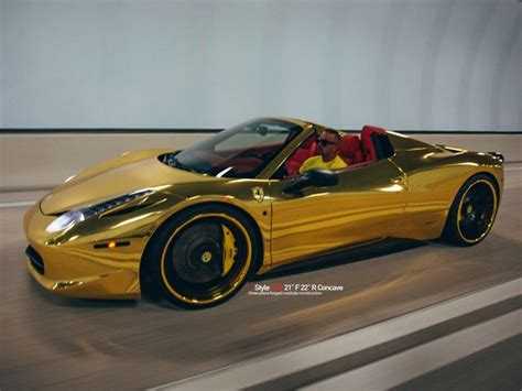chrome ferrari 458 spider gold chrome ferrari 458 spider has photo session photos
