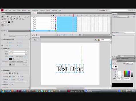 flash tutorial for text animation flash cs4 tutorial text drop animation youtube