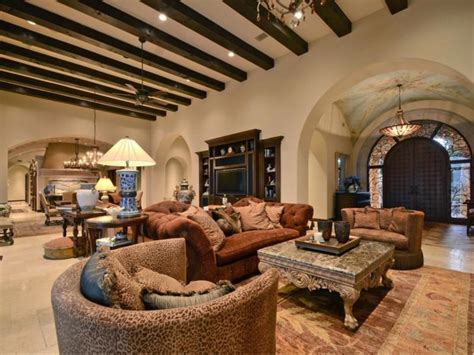 living room in mansion estate of the day 5 3 million tuscan mansion in austin