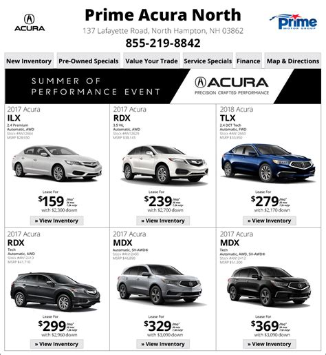 prime acura prime acura new hshire deals shop now
