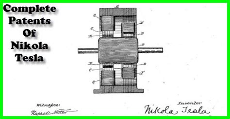 The Complete Patents Of Nikola Tesla Pdf The Who Electrified The World Green Energy