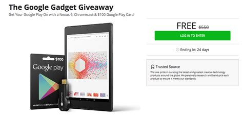 Google Giveaways - giveaway win a nexus 9 chromecast and 100 google play gift card from the dl deals