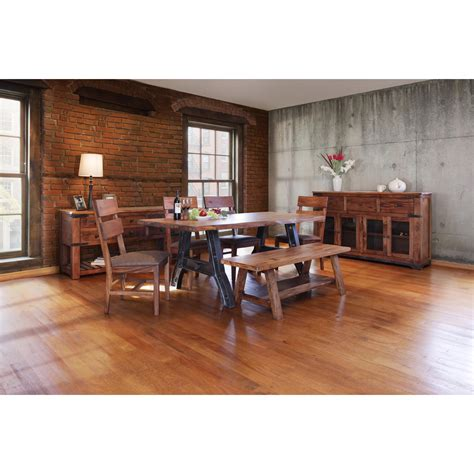 international furniture direct parota trestle table with