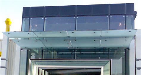 glass awning suspended glass canopies av16 crea fassaden und